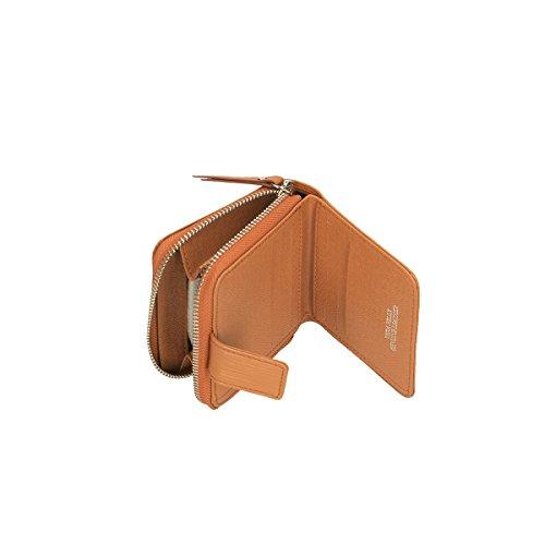 Chicca Borse Portafogli in pelle 11x10x3 100% Genuine Leather Cuoio