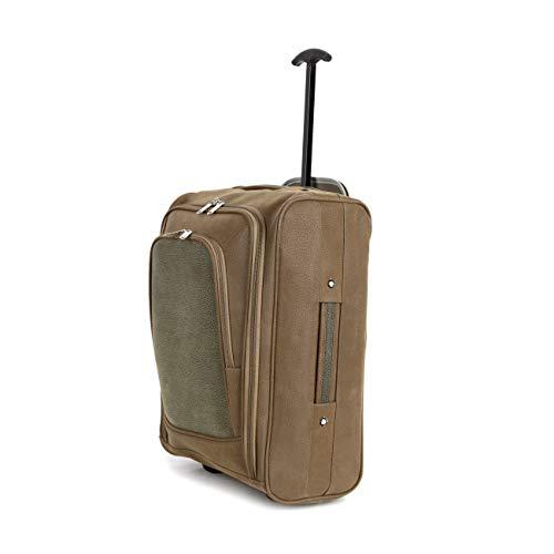Generic Dall Oli Trolley-Koffer für Gepäckträger, Trolley, Reisetasche mit Rädern, Olivbraun