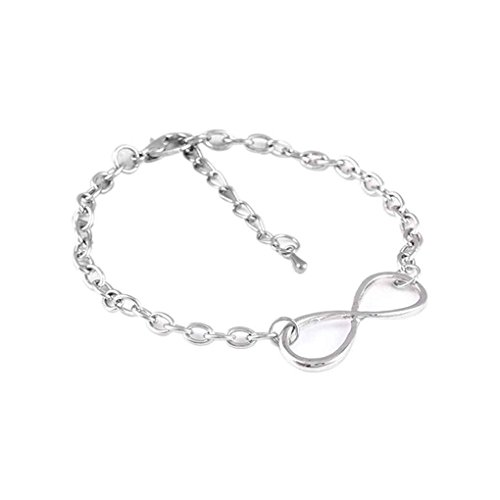 Nowear Huit Forme Infini Symbole chanceuses chaîne Main Amitié Infini Bracelet