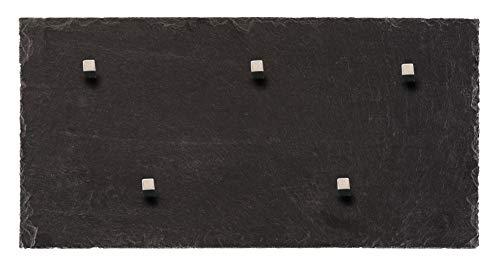 Ardoise Tableau magnétique (Pierre en massif véritable). – Tableau + Tableau en 50 cm x 25 cm avec 5 aimants Board Boulevard