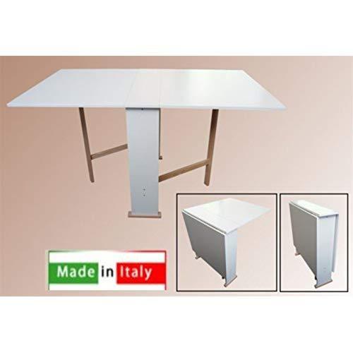FRASM Table en Bois Pliable Pliable Blanc Mod. Susanna 140 x 75 x 78 cm