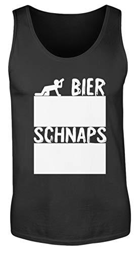 Shirtee Bier Und Schnaps Strichliste Für Partys Inkl. 12 Stück Kreide - Mit Kreide Beschreibbar - Herren Tanktop -M-Schwarz - Tank-tops Bier Männer Für