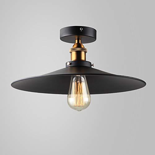 American Industrial wind Black geschmiedet klein Deckenleuchte, designer Schlafzimmer Esszimmer gehen Sie den Flur Deckenleuchten Lampen Laternen leuchten (Farbe: A-36 * 18,5 cm). - - Deckenleuchte Geschmiedet