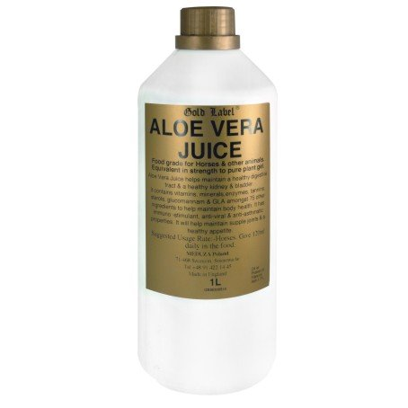 Gold Label Horse Aloe Vera Juice 1litre - General tonic. Promotes well-being, energy & gastric health by William Hunter Equestrian