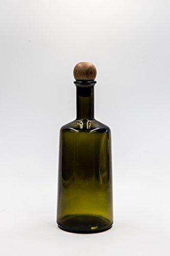 nr 1 Glasflasche Primula 500 ml aus grünem Glas Korkverschluss n°25 -