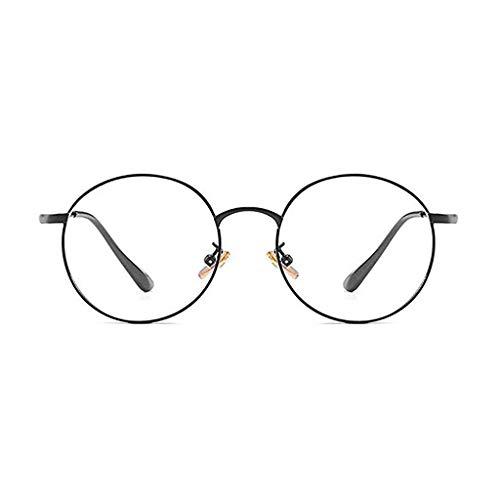 Glücklich zusammen Anti-Radiation und Anti-Blue-Brille Computerschutzbrillen für Männer und Frauen Nothing Retro Small Neue koreanische Version des Augenschutzes (Color : C)