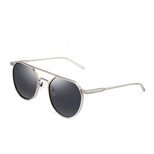 ZCFDDP Sonnenbrille Legierung Rahmen Pilot Sonnenbrille Designer Echte Polarisierte Gläser Für Fahren Beschichtung Spiegel Sonnenbrille Mit FallSchwarz