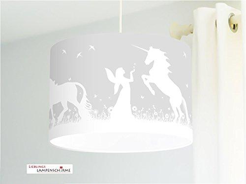 Lampenschirm - Einhörner und Elfen - 35cm - Wunschfarbe und Größe auf Anfrage
