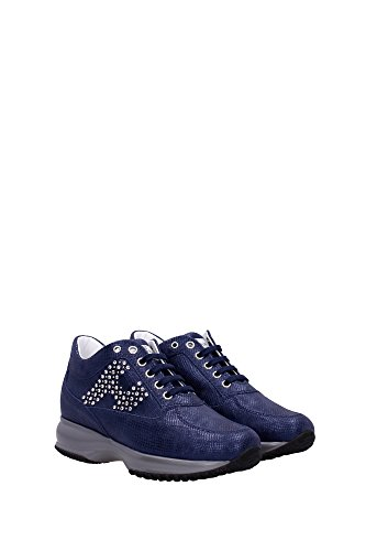HXW00N0E4317HVU800 Hogan Sneakers Damen Leder Blau Blau