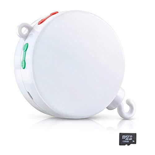 Dreamtop Baby-Bettwäsche, Musik-Mobile mit 128 m Micro-SD-Karte, Spieluhr für 12 Melodien -
