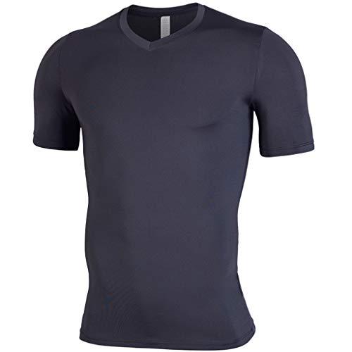 Clearance!DDKK 2019 Herren Kompressionsshirt, kurzärmelig, kurzärmelig M schwarz (Teenager-mädchen Sweatpants Coole Für)