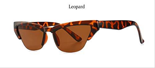 YKDDGG Damen Sonnenbrille Vintage Sonnenbrillen Damen Halbrandlose Sonnenbrillen Damenmode Brillen Modische Damenbrillen Werden aus hochwertigen Materialien für LanglebigkeitLeopard hergestellt
