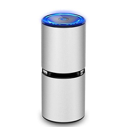 HiGoing Auto Luftreiniger, USB Luftreiniger, Auto Lufterfrischer, ideal für Raucher und Asthmatiker, Luftwäscher produziert Ozon und negative Lonen, PM2.5 effektiv zu reduzieren, USB Anschlüsse, Desinfektion Desodorierung und geringe Geräusch, Lufterfrischer für Büro schlafzimmer Auto usw.