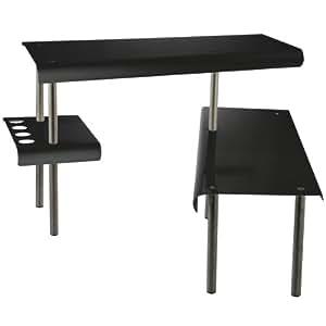 Etagère d'angle NOIR - pour la Cuisine - Salle de bain ou sur un bureau - Idéal pour gagner de la place