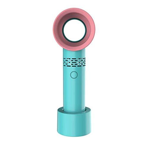 Neueste Schreibtisch Ventilator, Tragbare USB Aufladbare Wingless Ventilator, Handminiventilator, Bladeless Fan, Tisch/Büro/Schlafzimmer/Außenventilator (Farbe : Grün) - - Schlafzimmer-büro-tisch
