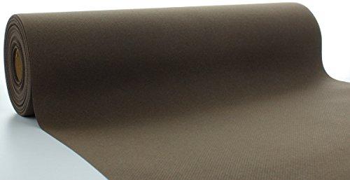 Sovie HORECA Linclass® Airlaid Tischläufer 40 cm x 24 m / Tischdecken-Rolle stoffähnlich / praktische Einmal-Tischdecke für Hochzeit oder Partys / Braun