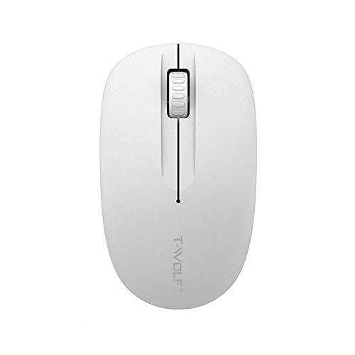 HGFBXSL Drahtlose Mäuse Wireless Mouse Notebook Desktop Plug & Play Kompakter Mini USB Empfänger Mäuse Weiß für Heim und Bürocomputer Laptops
