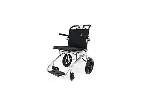 Rollstuhl, Der Doppelbremsrollstuhl Faltet - Faltende Fußstützen - Transportrollstuhl Mit Fußstützen - Älterer Rollstuhl Für Reise Und Lagerung,A,A - Fluggesellschaften, Weißes T-shirt