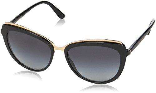 Dolce & Gabbana Damen 0DG4304 501/8G 57 Sonnenbrille, Schwarz (Black/Gradient),