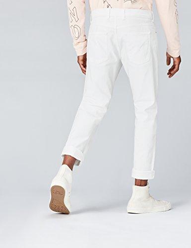FIND Jeans Herren mit schmalem Bein und mittelhohem Bund Weiß (White Wash)