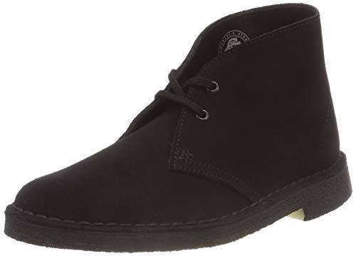 Clarks Damen Desert Boots, Schwarz (Black Suede), 38 EU