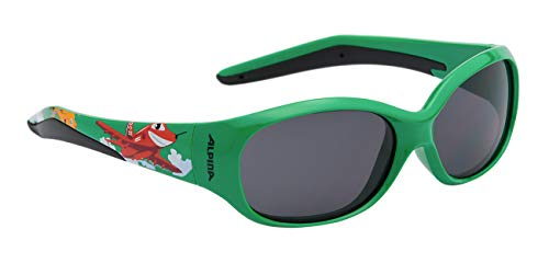 Alpina Kinder Sonnenbrille Line FLEXXY Green Plane, One Size