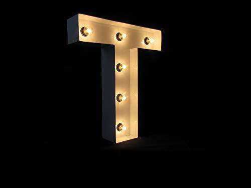 Letra Luminosa metal T