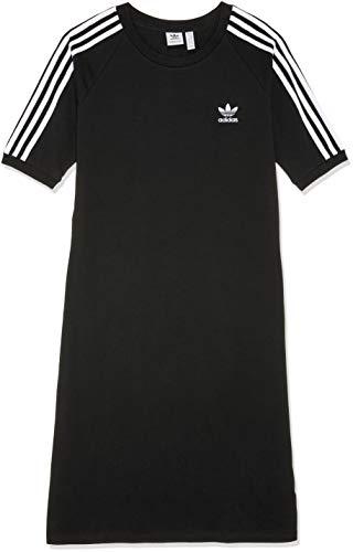 adidas Damen 3-Stripes Kleid, schwarz (Black), 36