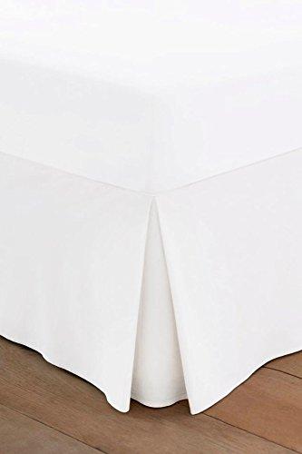 Protège-matelas - 100 % coton égyptien 200 fils au pouce carré, egyptian_cotton, blanc, Super King Fitted Valance