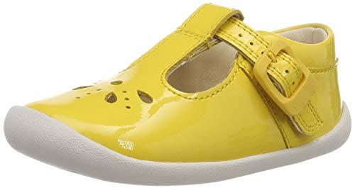 Clarks Baby Mädchen Roamer Star T Ballerinas, Gelb (Yellow Patent), 17.5 EU