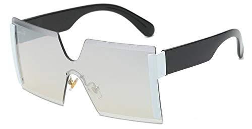 Sonnenbrillen. Frauen Übergroße Brille Halb Randlose Quadratische Sonnenbrille Designer Große Weibliche Sonnenbrille Outdoor Reisen Sommer Staub Uv400 Silber
