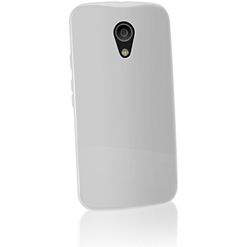iGadgitz U3292 Handy-Schutzhülle für Motorola Moto G 2nd Gen, 12,7cm (5Zoll), Weiß