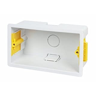 Appleby Plastic Double Dry Lining Plasterboard Wall Box 47mm