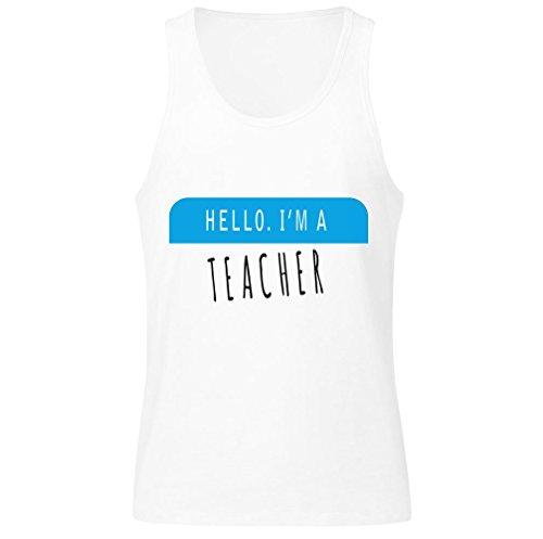 Hello. I'm A Teacher Men's Tank Top Shirt