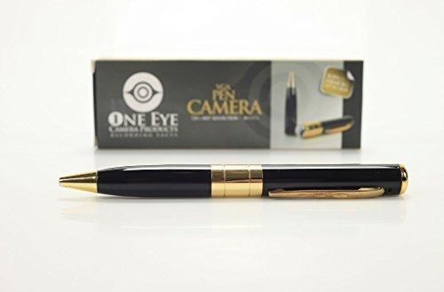IndiaMart Electronics Hidden Spy Pen Camera Recorder DVR Gold VGA 720x480p Kit with Upto 32GB TF Card