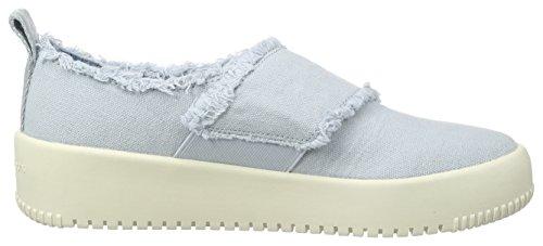 Calvin Klein Jeans Dale Fringe Canvas, Sneakers Basses Femme Bleu (Cby)