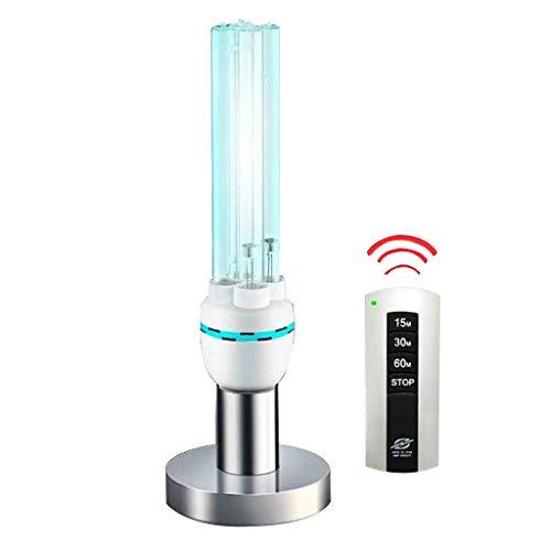 E27 Uv-Lampen Sterilisationslichtlampe Desinfektionslampe Mit Ozon Fernbedienung TöTet 99,9% Der Bakterien Schimmel Keim Viren Effektiv Mit Lampensockel FüR Den Haushalt Toilette Schlafzimmer -