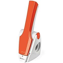 Ariete 447 Gratì 2.0 - Grattugia Elettrica Ricaricabile Senza Filo, Lunga autonomia fino a 1kg di formaggio, Rullo acciaio inox, Arancione