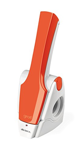 Ariete 447 Rallador Eléctrico Resistente al Agua, 120 W, acero inoxidable, Blanco y naranja