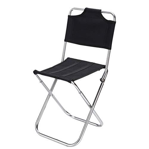 LCLrute Chaise Pliante, Chaises de Camping Pliables Portables Directeur de Camping Pêche Plein air BBQ Beach Seat,Chaise Pliante Camping,Chaise Pliante Confortable,Chaise Pliante Enfant (Noir)