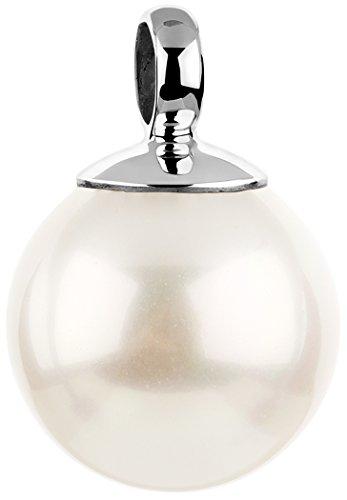 Nenalina Perlen Anhänger für Damen Kette oder Halskette in 925 Sterling Silber, 726099-046 - Perlen-anhänger