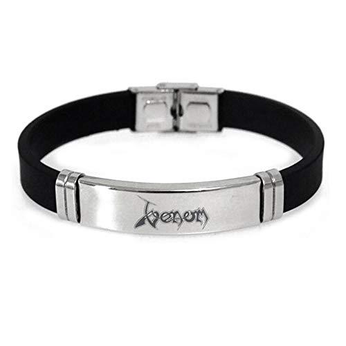 Lorh's store Venom Marvel Movie Periphere Produkte Inverse Armband Venom Edelstahl Verstellbare Silikon Armband für Kinder Mädchen Jungen Fans (Design 3) - Fan-ellenbogen