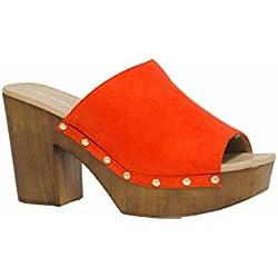 SHLEP , Damen Pumps, Orange - orange - Größe: 41