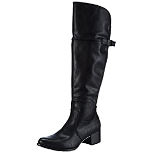 Marco Tozzi 25504, Damen Over-Knee Stiefel, Schwarz (Black Antic 002), 38 EU (5 Damen UK)