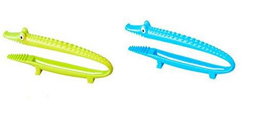 Leisial 2 Stücke Zuckerzange Krokodilform Zange Hangable Küchenzange Essen Zangen