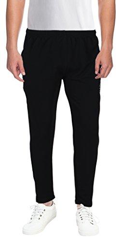 Rebizo Men's Polyester Track Pants Black_Large