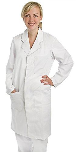 nner und Frauen, 100% BW, knielang, weiß, 1 Brusttasche, 2 Seitentaschen, Gr. M (Medizinischen Labor-mäntel Für Männer)