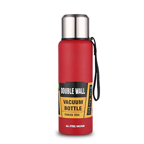 Rcraftn Isolierte Wasserflasche Edelstahl Outdoor Vakuum Isolierte Flasche Russische Stil Große Kapazität Isolier Cup - 1000ml & 1500ml