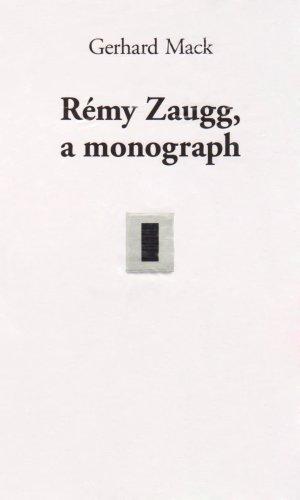 Remy zaugg a monograph