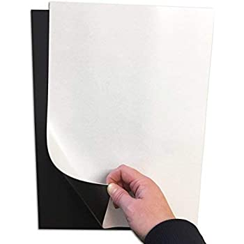 Zoom Sign Supplies Magnetic Flexible Sheet 0.85mm Vehicle Grade Sign Magnetic Flexible White Gloss Sample 80MM X 50MM